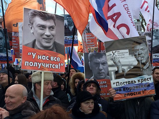 March in memory of Boris Nemtsov in Moscow 2017 02 26 Foto: Voice of America